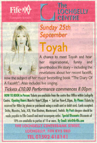 [ An Audience With Toyah - press ad ]